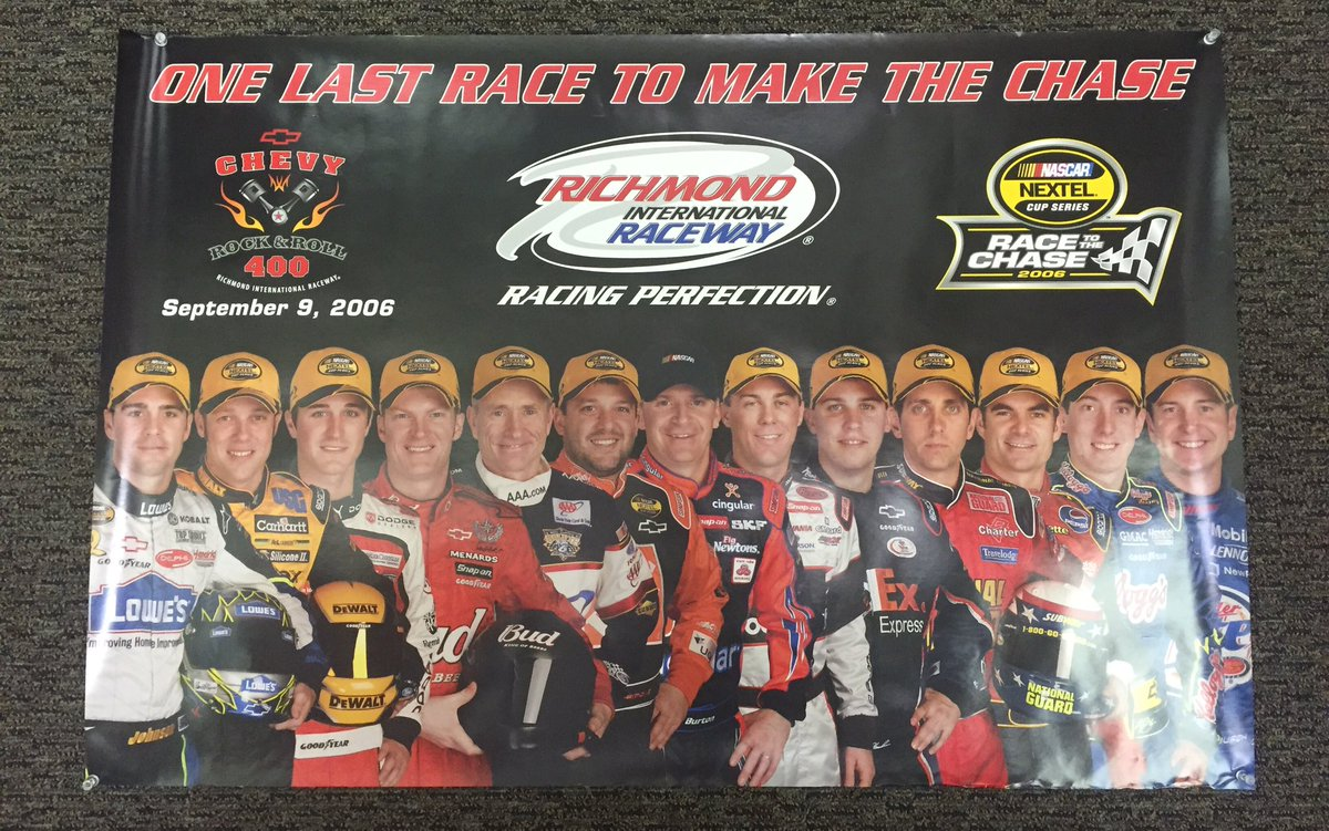 RETWEET to win this awesome throwback poster from 2006! #TBT #TheChase  (Look at those drivers!