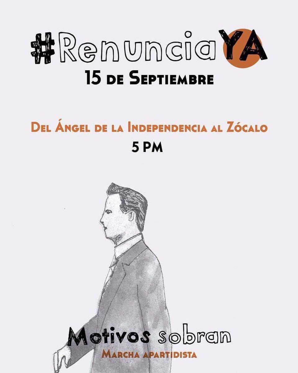 A mi #EnriquePeñaNieto  no me representa, por eso hoy marcho #RenunciaYa https://t.co/K9SgowettA