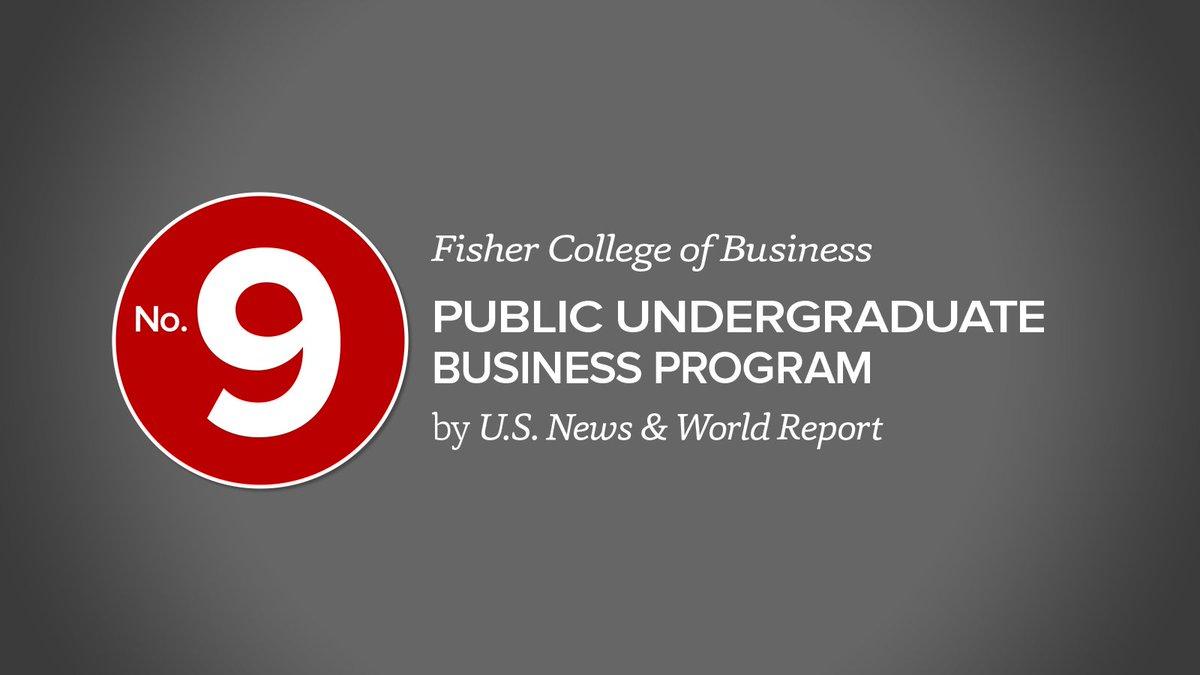 #9 among publics; #19 overall--Fisher ranked among best biz schools by @usnews https://t.co/En4Lt37deV #BestColleges https://t.co/j1kv75s2Gt