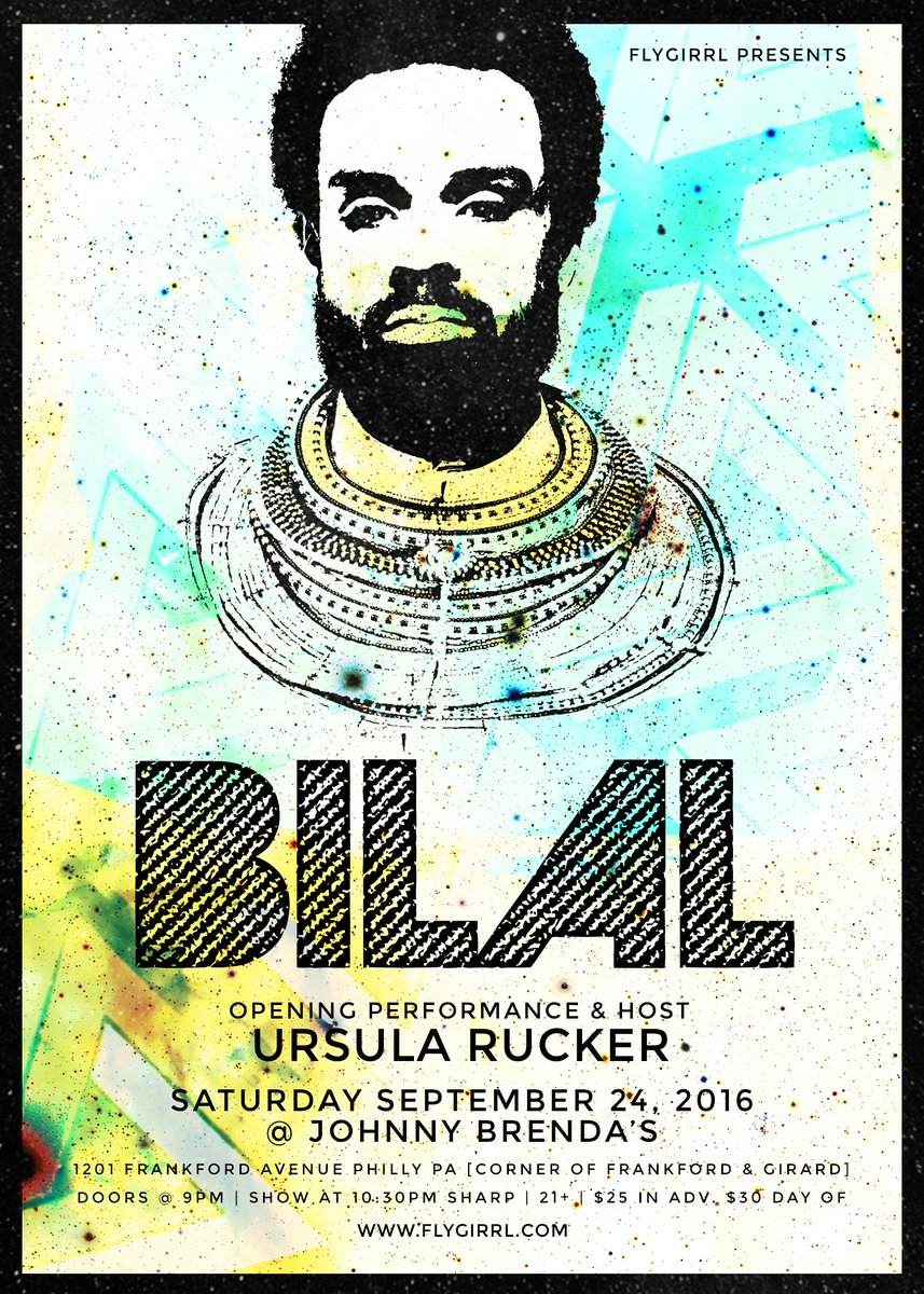 #PHILLY! @Bilal x @urucker live at @JohnnyBrendas Saturday September 24. Grab tickets and tell a friend! https://t.co/bIWAbeheId