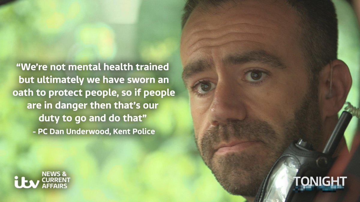 A third of police work now involves responding to people suffering a mental health crisis @kent_police #ITVTonight https://t.co/DJH4WwKk5V
