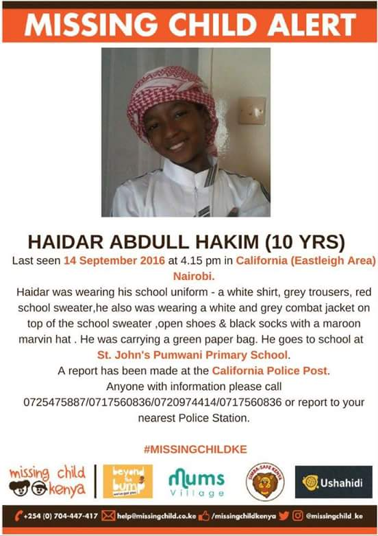 please if you see him anywhere, report to the nearest police station or call the numbers indicated on the poster https://t.co/bMN3VBdEmf
