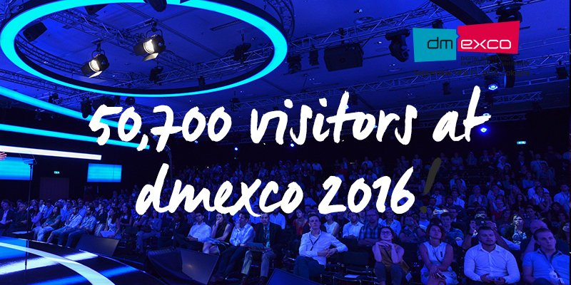 WOW #dmexco sets a new visitor record of 50,700 trade visitors!!! Thank you so much for your support! https://t.co/vnnbeT8w7X