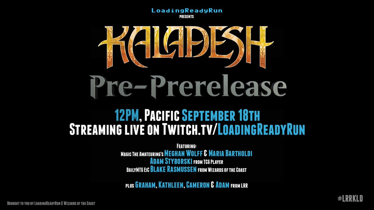 Kaladesh Pre-PreRelease is just 3 days away. Get hyped!! #LRRKLD #MTGKLD https://t.co/GuPTHYrPQE