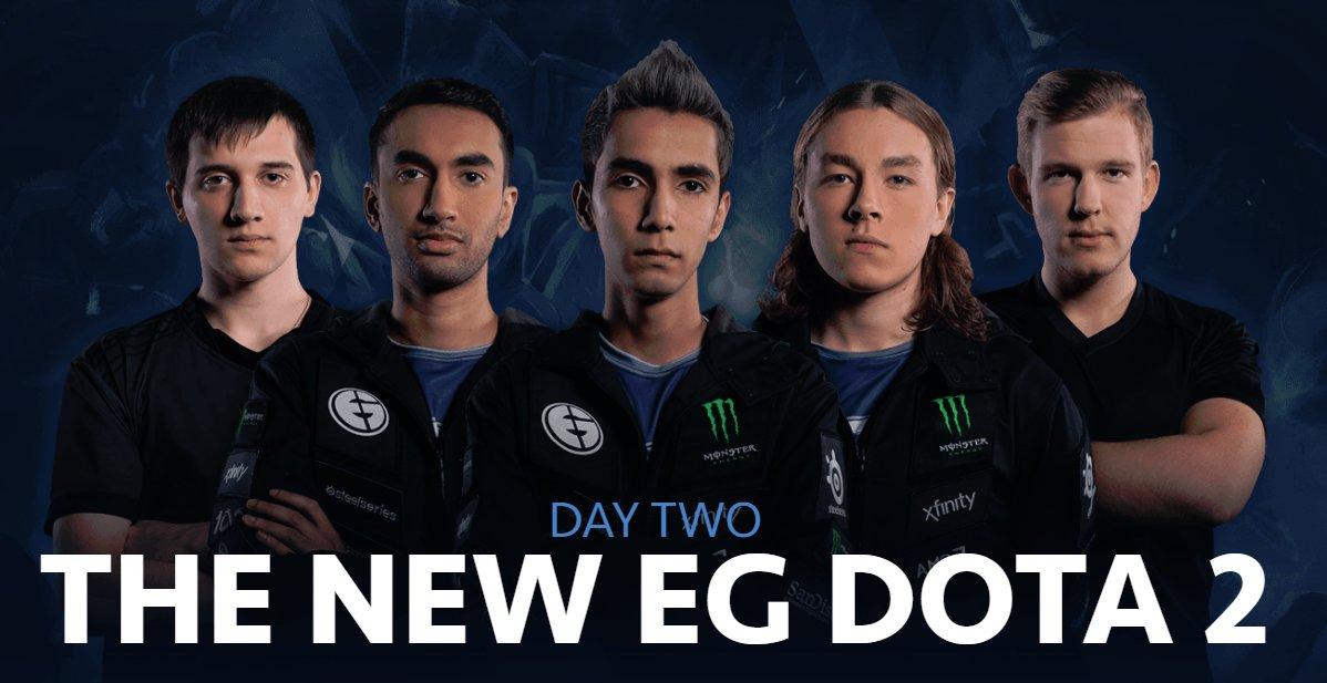 Day two: EG's new @DOTA2 roster revealed. See the full line-up: https://t.co/cKQ3y0101E https://t.co/4nkI08fZcr