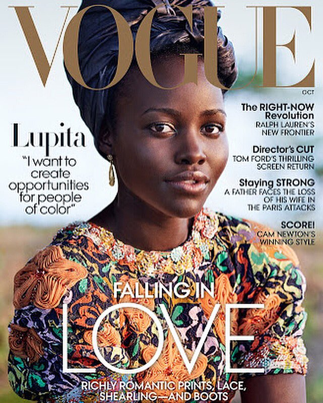 Love Lupita's Vogue cover shoot. October issue, shot in Kenya by Mario Testino https://t.co/hBowAWaHq0