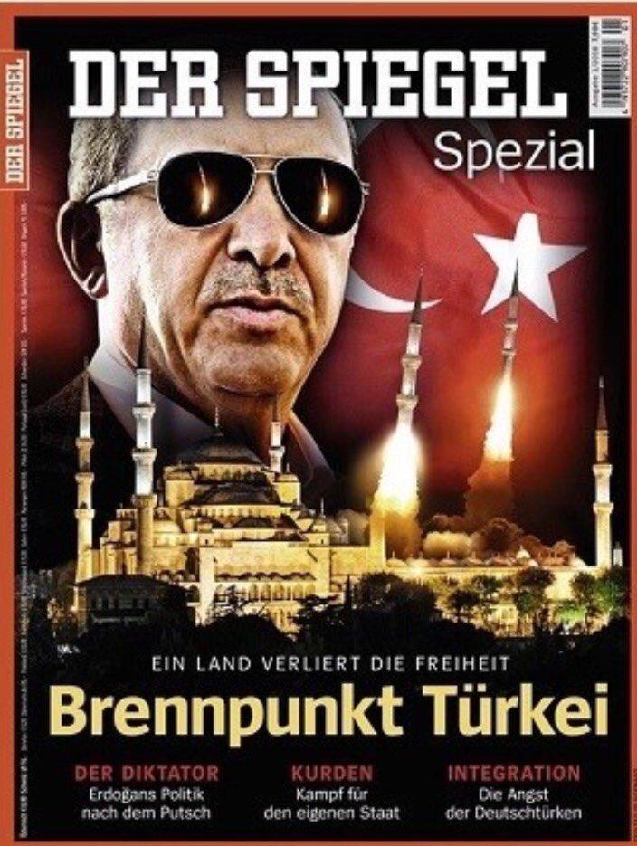 """صورةالغلاف التي نشرتها """"دير شبيغل"""" وأثارت غضب الأتراك؟ حقد غربي دفين ضدالاسلام ورموزه! @LoveLiberty @nasser_duwailah https://t.co/2rXWF6MJS8"""