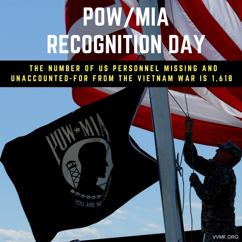 Today is POW/MIA Recognition Day - please take a moment to recognize our nation's prisoners of war & solders MIA https://t.co/pHhbp9zxDJ