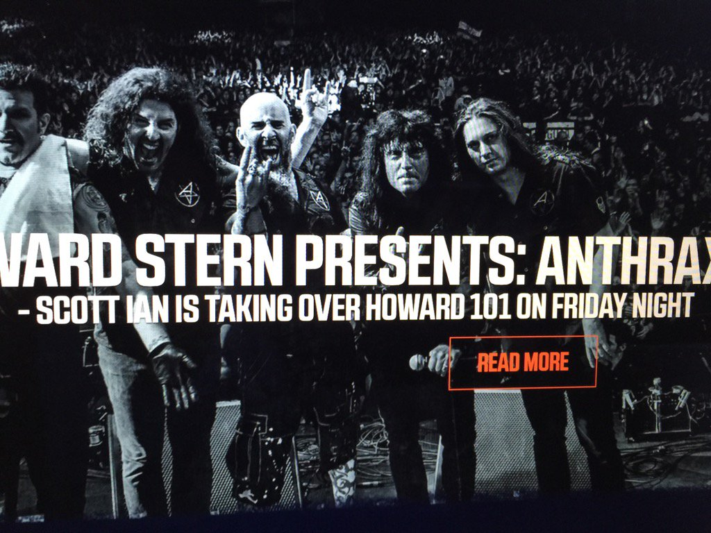 RT @MFBrooklyn: Don't forget @sternshow fans @Anthrax Howard 101... 11 pm tonight https://t.co/yBpGgu0j7c