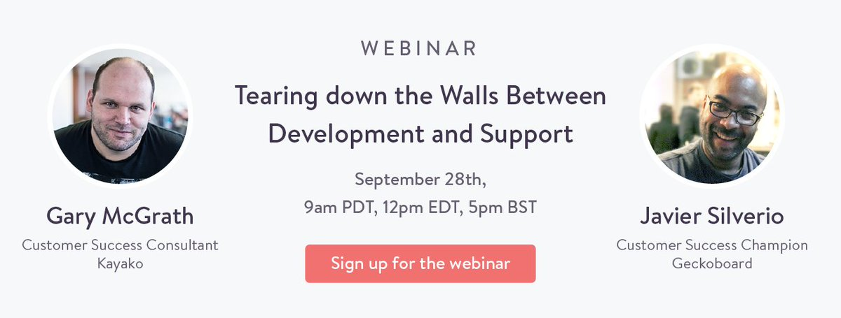 Webinar with @Geckoboard!  Tearing down the Walls Between Development and Support   https://t.co/Mi3mJoLc3g  #CX #UX https://t.co/CL6IcKrjI9