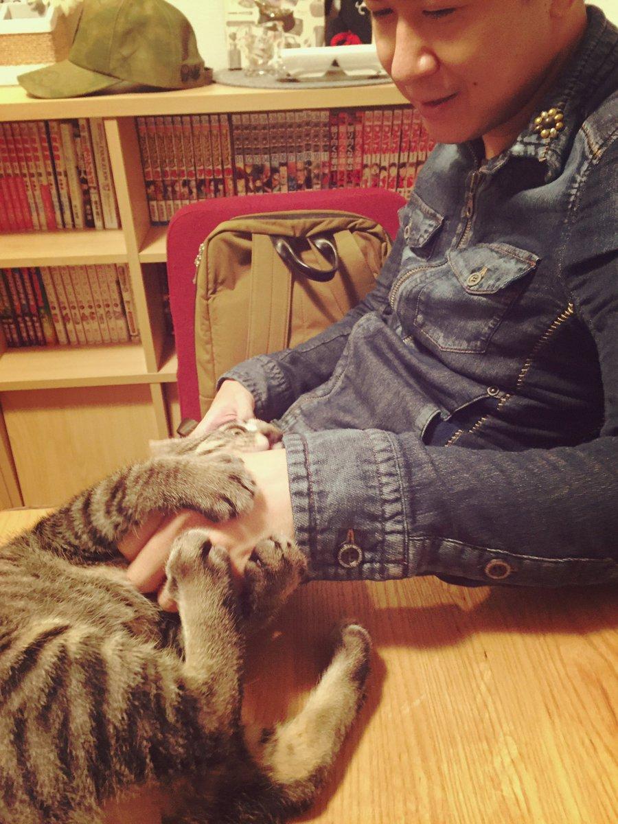 今日は杉田さんがベルに会いに来てくれましたよと。ベルにベタ惚れしております(*´罒`*) https://t.co/eHtMgyPtA6