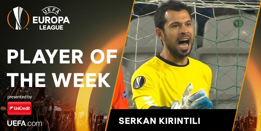 Konyaspor Keeper Serkan Kırıntılı Is The Uel Player Of The Week