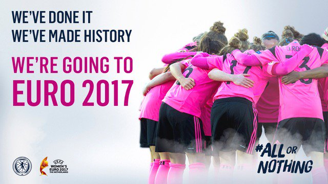 #SWNT | WE'VE DONE IT!!! Scotland Women have qualified for the @UEFAWomensEURO!!!!!! #HistoryMakers #AllOrNothing https://t.co/iivm5vwUpp