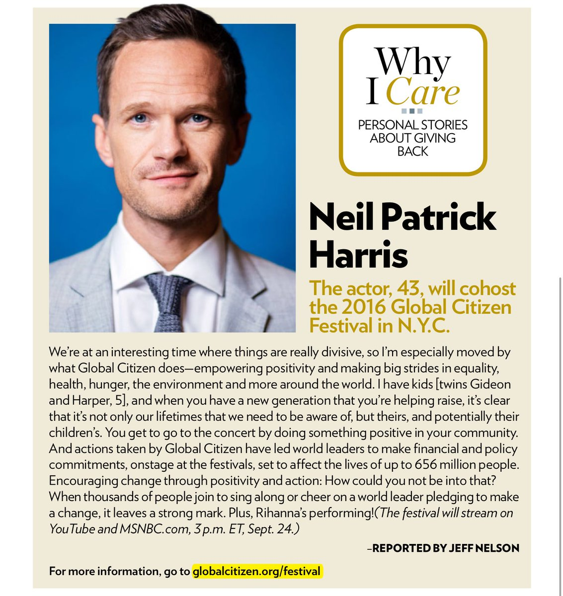 Sweet article on @ActuallyNPH in this weeks People Magazine. https://t.co/aKObdBynqG
