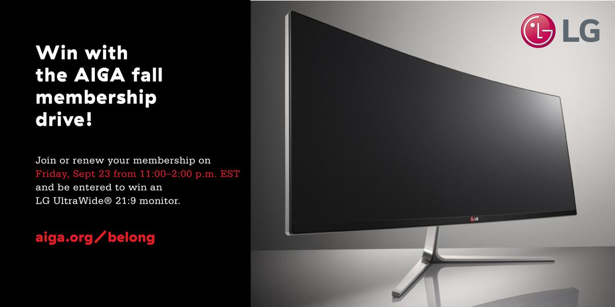 Join/renew @AIGAdesign NEXT FRI 11-2pm ET + be entered to win @LGUS monitor https://t.co/WvRvxBtWXW #AIGAbelong https://t.co/Uv9QzCD4pb