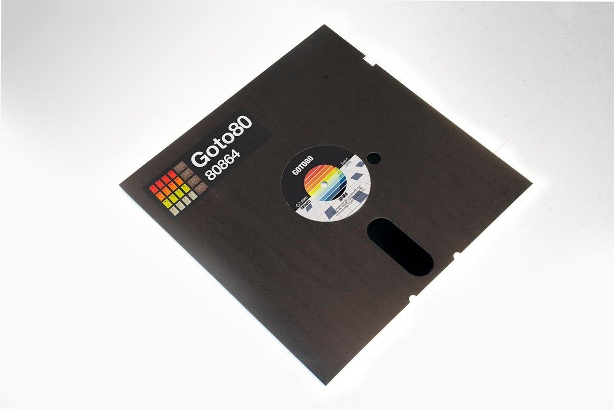 "80864 - my 12"" @Dataairlines vinyl that looks like a floppy. Made on C-64 & TR-808. https://t.co/7youtrmLhO https://t.co/oEut8V1Wpo"