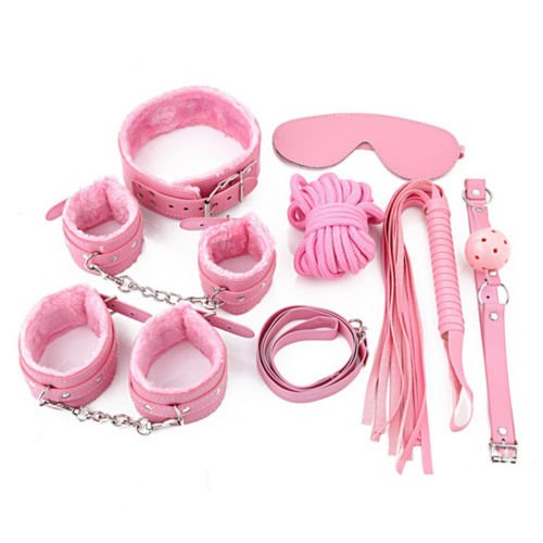 RT @bdsmgeekshop: 8Pcs Pink��#Bondage Kit⚾#Set Neck Collar��Whip��#Ball��#Gag Handcuffs… https://t.co/FvwA9MayyF ��see more details now! https:/…