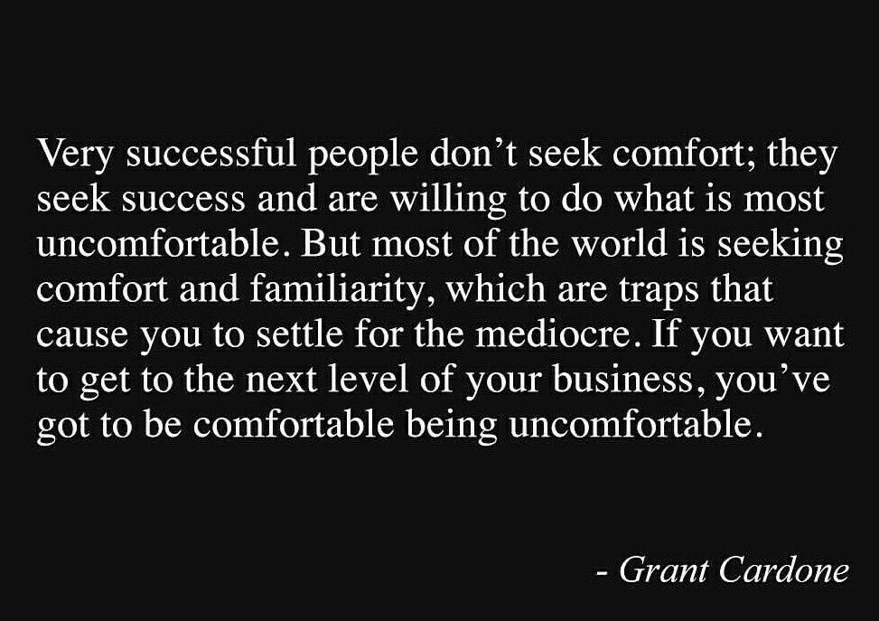 Step out of your comfort zone. https://t.co/fUe8qHgiW2