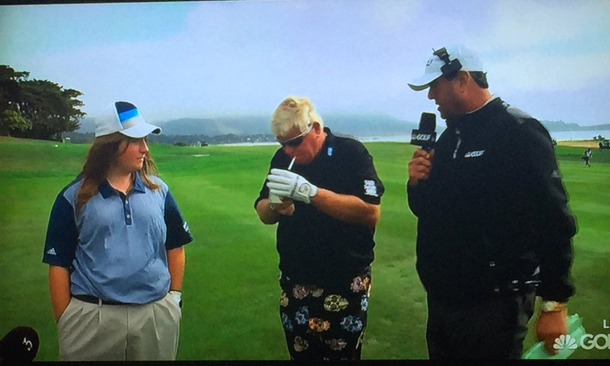 JD, always the role model to young golfers.