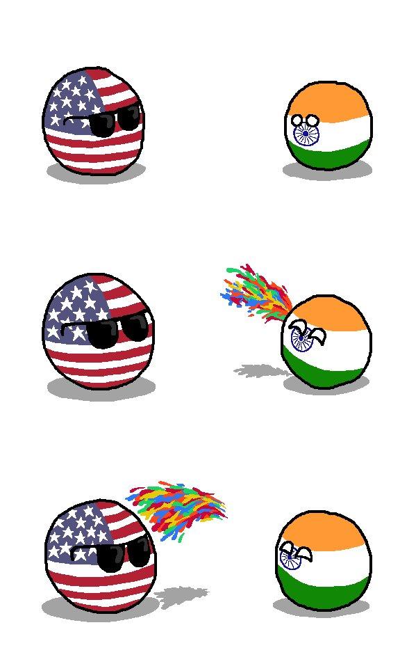 test ツイッターメディア - ホーリー祭 ホーリー祭とは、インドやネパールのヒンドゥー教の春祭り。春の訪れを祝い、誰彼無く色粉を塗りあったり色水を掛け合ったりして祝う。  #ポーランドボール  #polandball https://t.co/TgPHEc9EAB