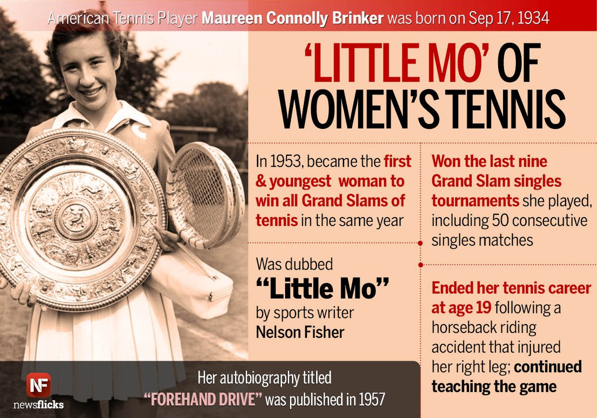 The first woman to win all four grand slams in the same year
