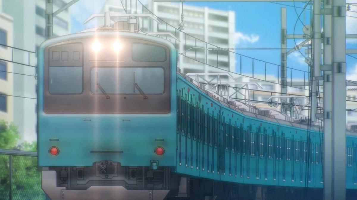 RAIL WARS! -日本國有鉄道公安隊- 3話その2201系E231系500番台田端駅での並走のシーン。山手線のE2