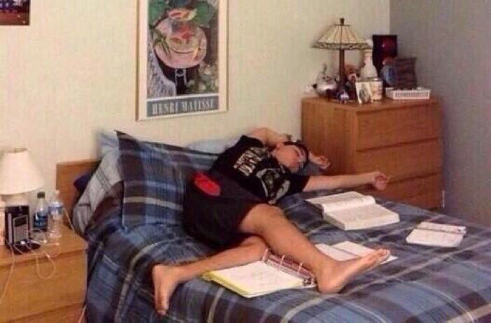Me at school: I'm gonna study and finish all my assignments as soon as I get home.  Me at home: https://t.co/bfAPO6OSnY