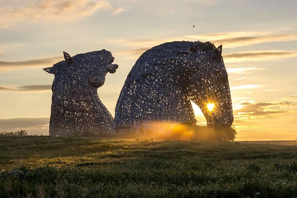 Worth an early morning at The #Kelpies for a shot like this!