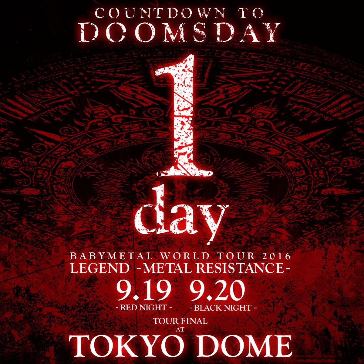 In the end... #BABYMETAL #TOKYODOME #東京ドーム #THEONE #DOOMSDAY https;//t.co/RD6NJEnXF6