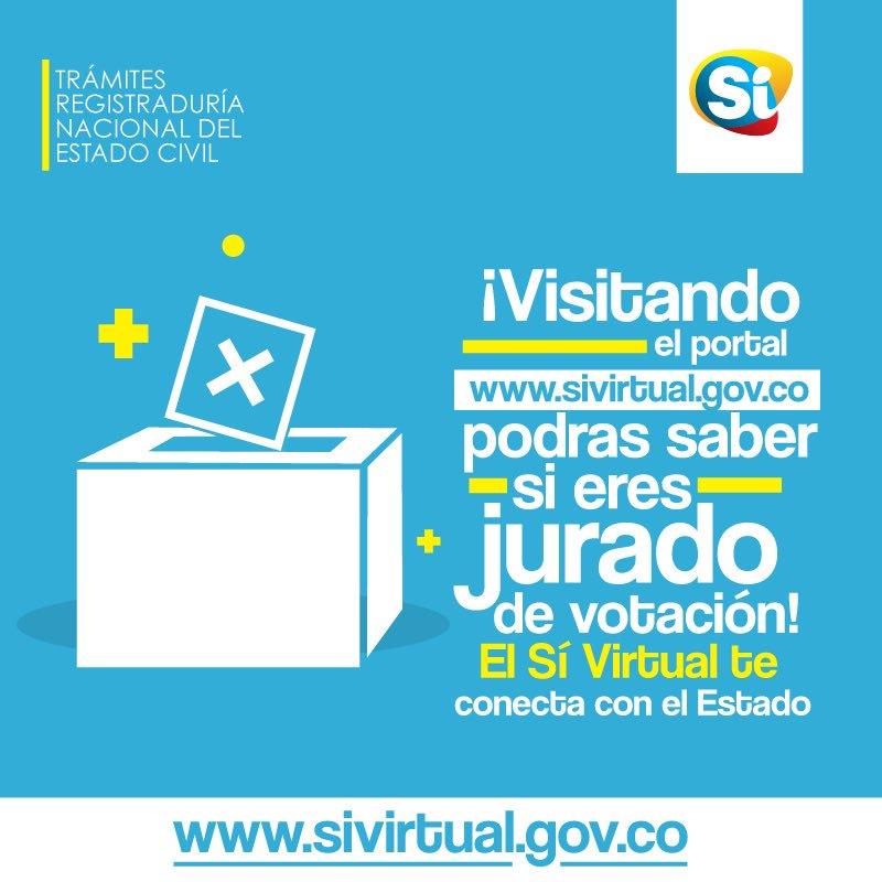 Consulta en https://t.co/vXc1zEbOfb si eres jurado de votación ¡Es muy fácil! @SiVirtualCO https://t.co/lVXQRRish4 https://t.co/5syI9ck67I