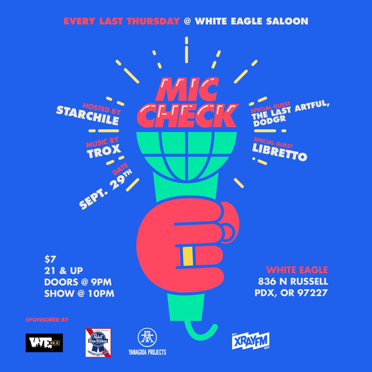We got @TheLastArtful & @slumfunk rockin live on the 29th at White Eagle! Y'all might wanna come thru.... #pdxebents https://t.co/QOget1NzXS