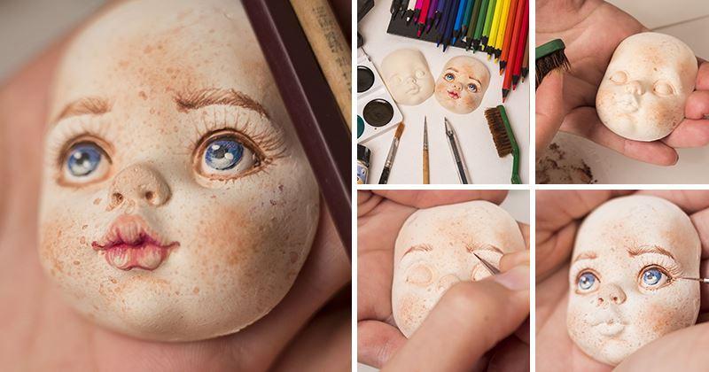 Как сделать глаза интерьерной кукле пошагово