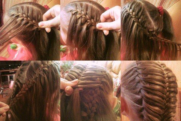 Причёски для девочек на средние волосы пошагово косы