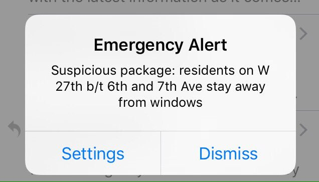 This emergency alert has just gone out to those in Chelsea near 2nd device site. #fnr https://t.co/5hpooWX0kw