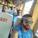 Back to the team bus! Some of the best jokes and memories are courtesy the team bus. #TeamIndia #TeamBusDiaries https://t.co/7uOu3OWNI5