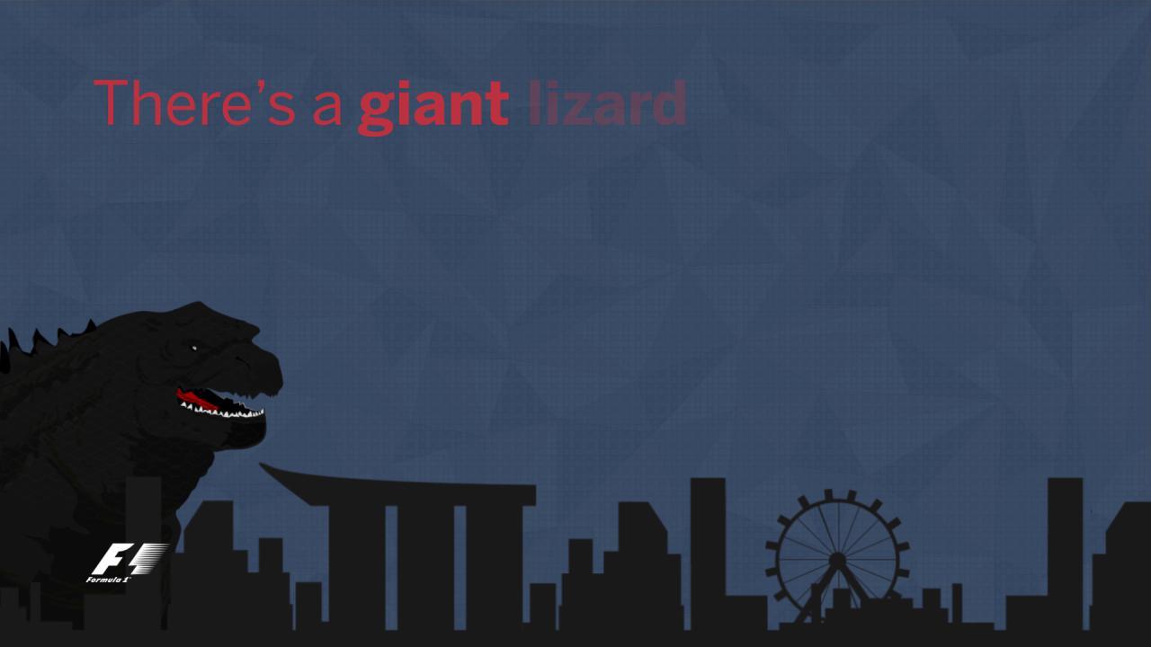 It was Godzilla vs Max on Saturday. What will Sunday's sequel be...?  #SingaporeGP https://t.co/ZEmaUOGXQY