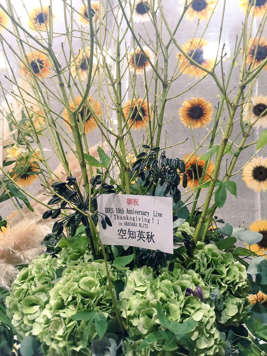 空知さんからもお花頂きました!ありがたき幸せ。つか、花のセンスがハンパねぇ!#gintama #DOES https://t.co/qe8YMbfqZ1