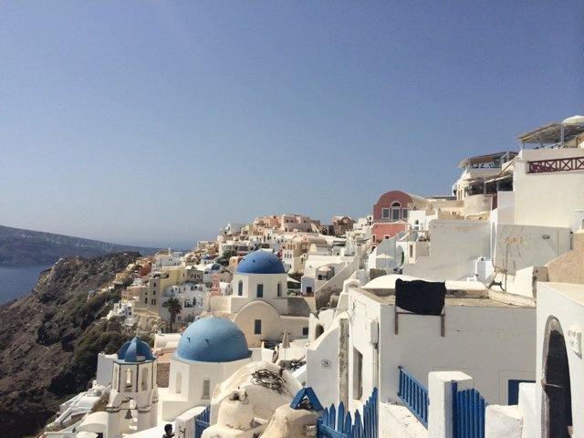 We are in stunning #Santorini today. Serious beauty around every corner
