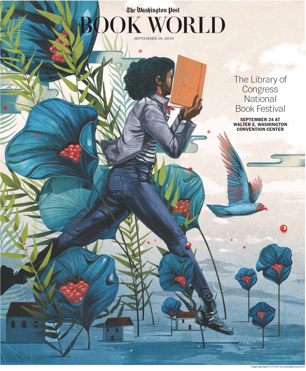 Gorgeous cover illustration of The Washington Post special issue on #NatBookFest was drawn by Jonathan Bartlett: https://t.co/E1ySDOFEmp