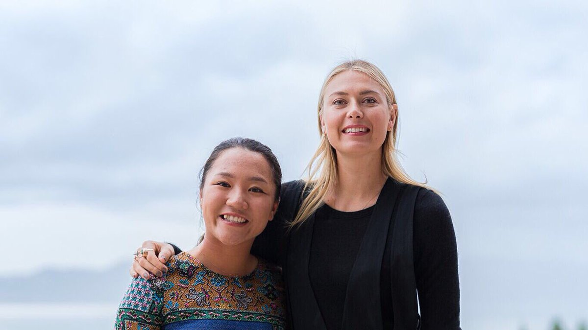 RT @evianwater: Proud to introduce two great #LiveYoung champions at #EvianChamp @LydiaKo @MariaSharapova https://t.co/DOLxbjHmc5
