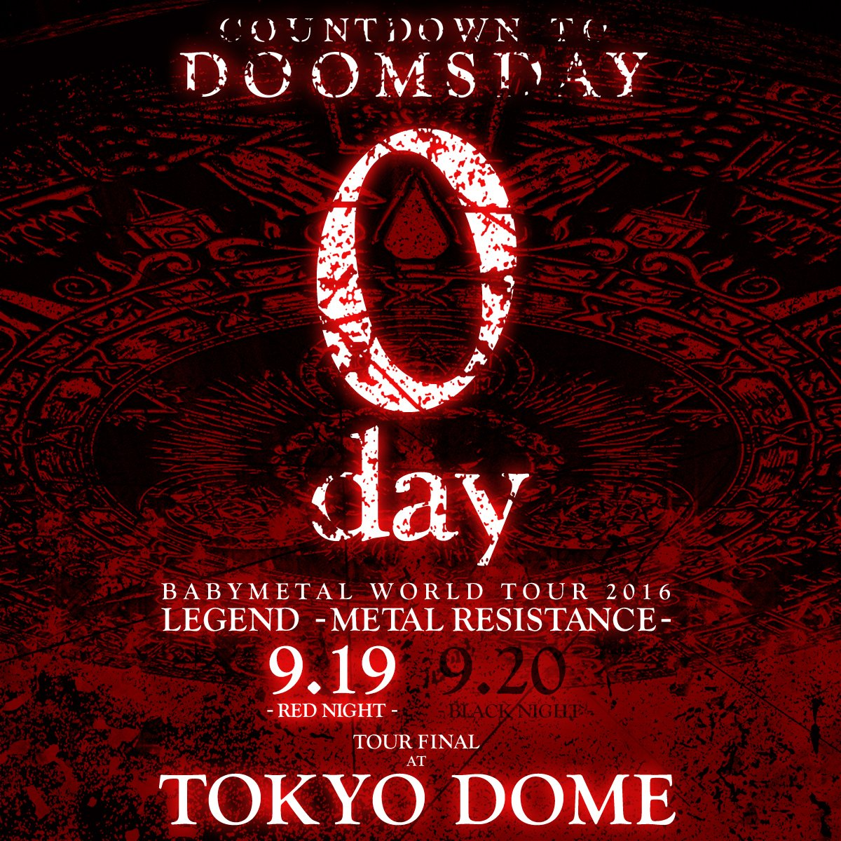 DOOMSDAY is coming #BABYMETAL #TOKYODOME #東京ドーム #THEONE #DOOMSDAY https;//t.co/gMK0W3yCDi