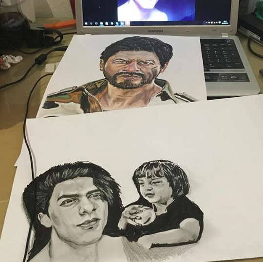 @iamsrk You're so loved & so is your Khandaan. Really hope you see this! Absolutely beautiful sketches by @mylfwld ❤ https://t.co/nSfczDvNTu