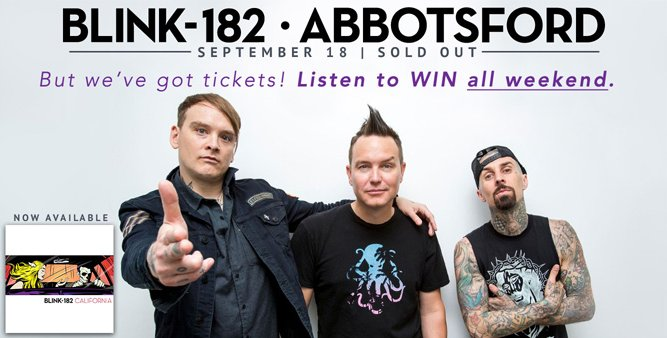 It's your last chance to win @blink182 tickets! Listen for the cue-to-call- first one is coming up in 20 minutes! https://t.co/D8YqbCDG2s