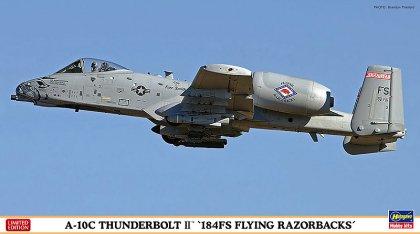 """ハセガワ1/72 A-10CサンダーボルトII """"184FS フライングレザーバックス"""" -184FS所属機より、機首に"""