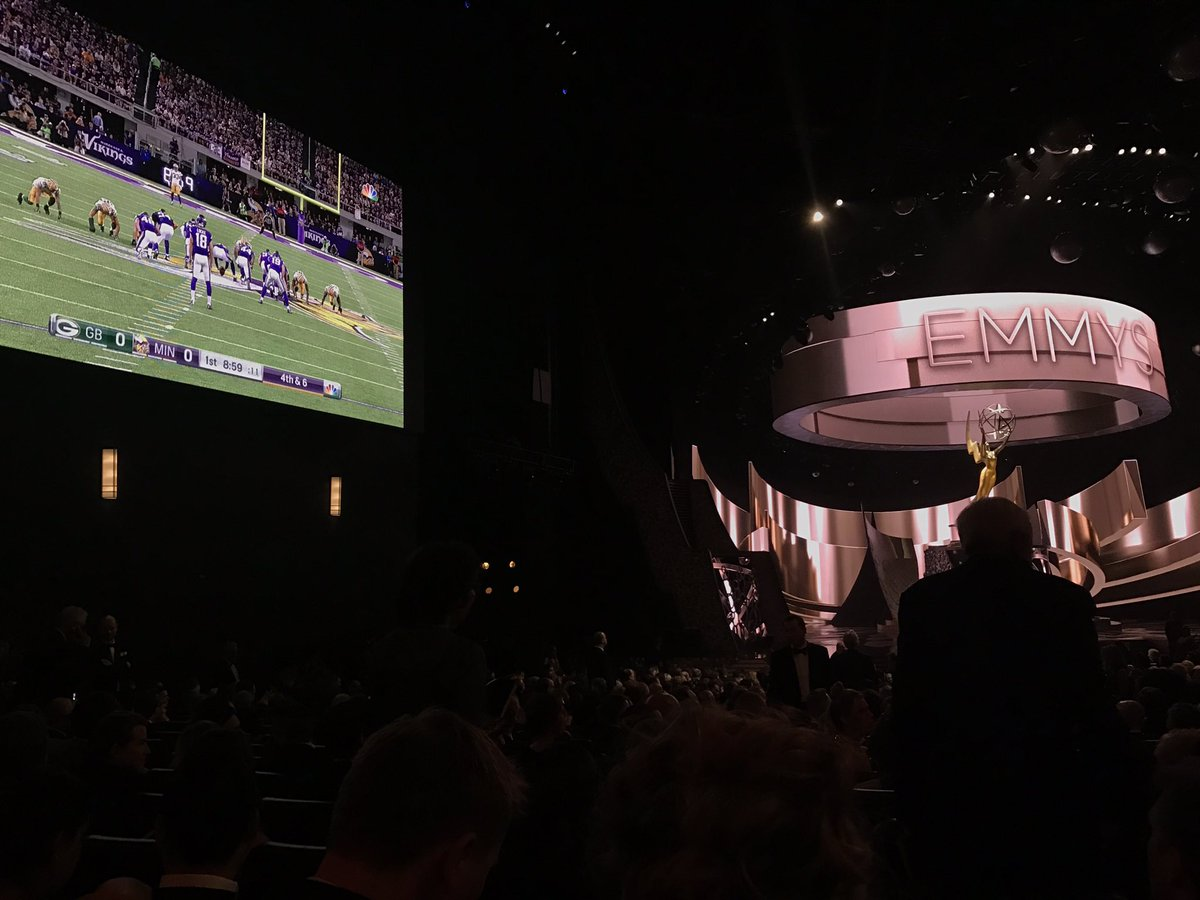 Fun fact: they play NFL football during the commercial break at #Emmys https://t.co/2Xc6apml7U