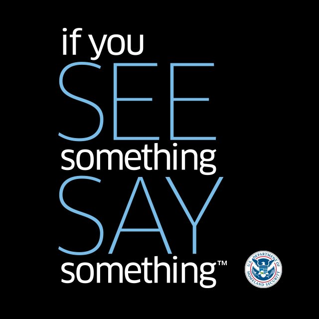If you see something, say something. Report suspicious activity to local law enforcement. https://t.co/nMK7ydmiy0