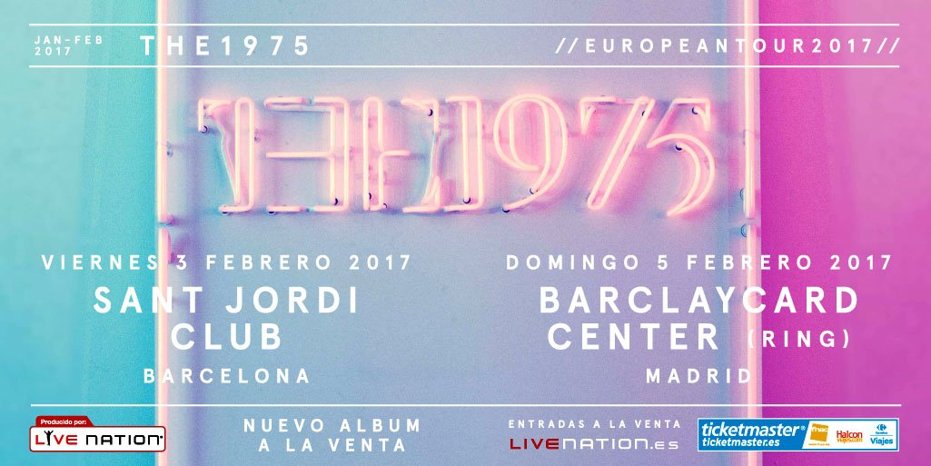 ❤️ ¡BOOM! @the1975 en Barcelona y Madrid en febrero. Preventa el jueves a las 10h en https://t.co/Q9PRyJw9n8 ❤️ https://t.co/ooMYCTiykU