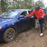 Olympic heroine Nyairera forced to push vehicle at homecoming party