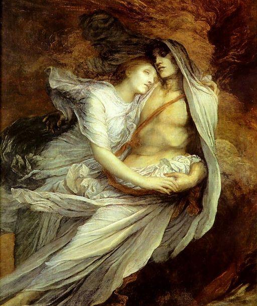 「パオロとフランチェスカ」 1872年-1875年ジョージ・フレデリック・ワッツの作品集 ⇒