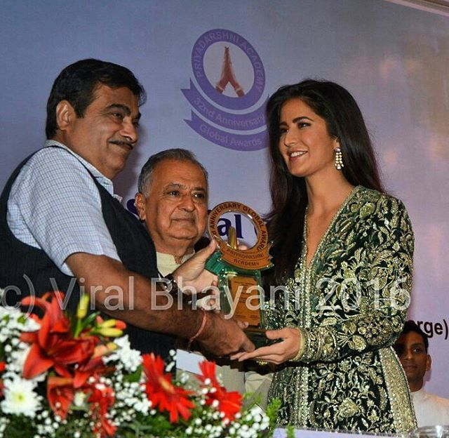 Katrina Kaif at the Priyadarshini Academy Awards today. https://t.co/6cP94vTWH9